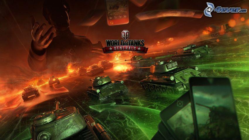 World of Tanks Generals, tanky, mobil