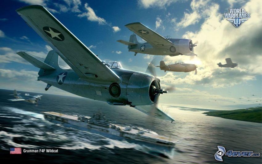 World of warplanes, loď, šíre more