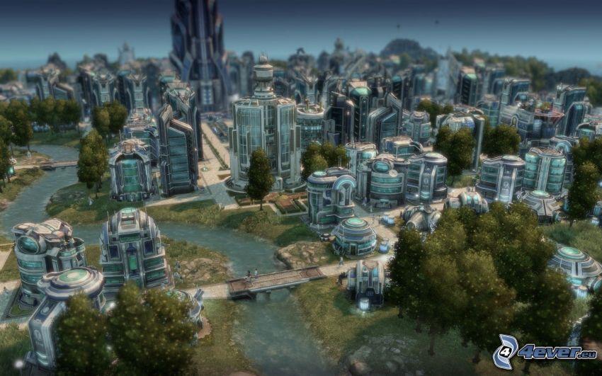 Anno 2070, sci-fi mesto