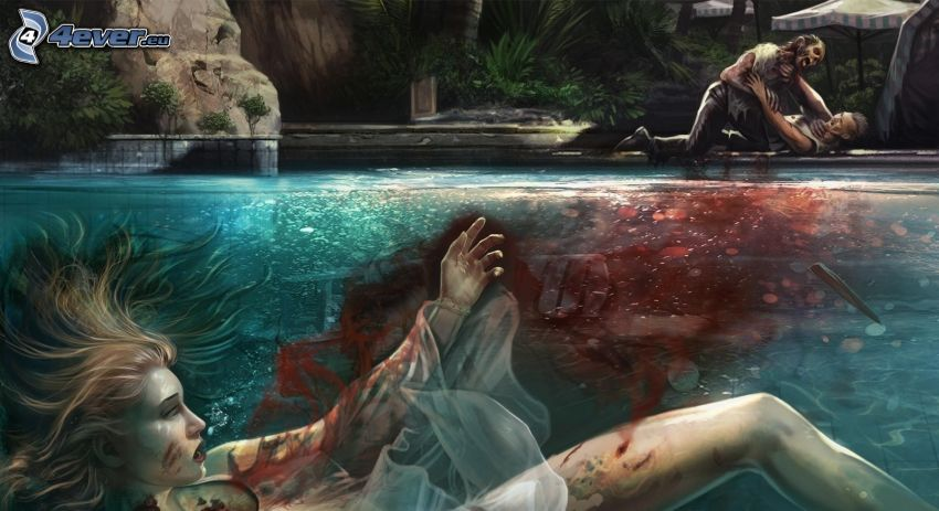Dead Island, mŕtvola, krv