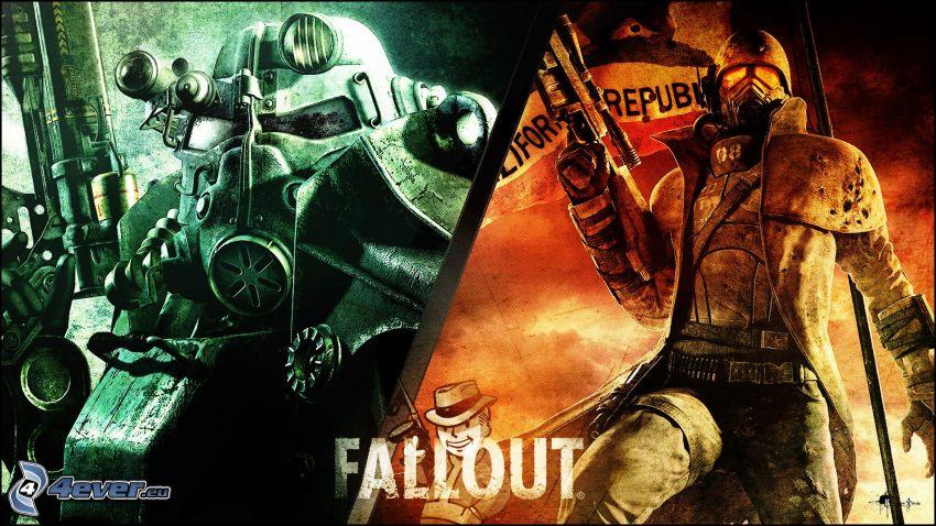 Fallout 3 - Wasteland, človek v plynovej maske