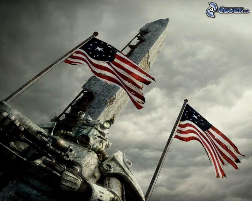 Fallout 3 - Wasteland, vlajky