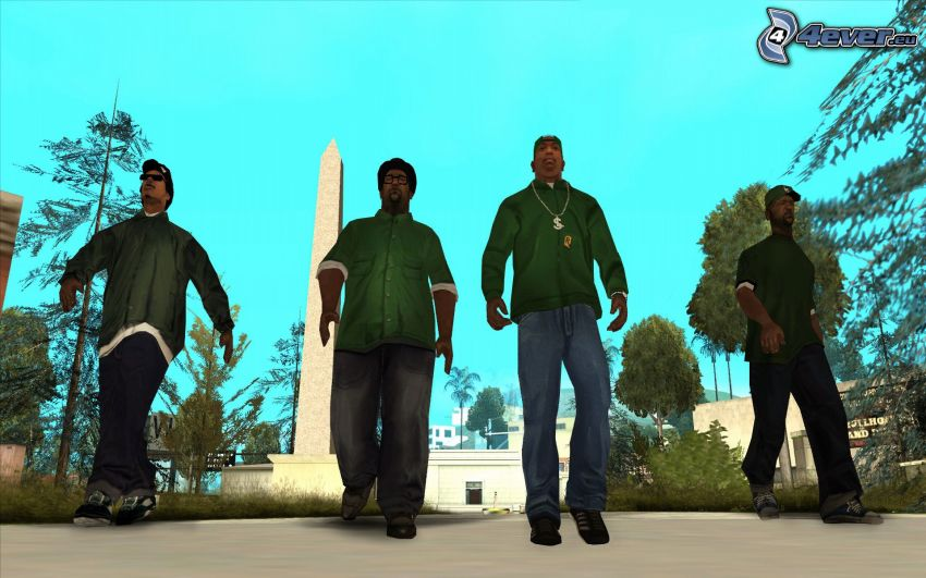 GTA San Andreas, gangstri