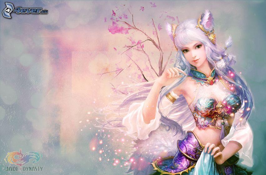 Jade Dynasty, kreslená žena