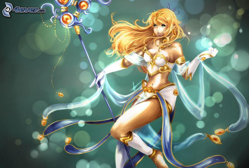League of Legends, kreslená žena