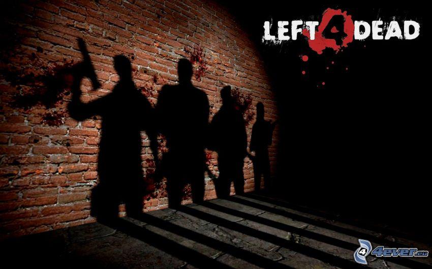 Left 4 Dead, tiene, tehlová stena