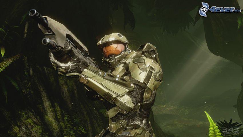 Master Chief - Halo 4, streľba