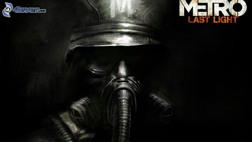 Metro: Last Light, človek v plynovej maske