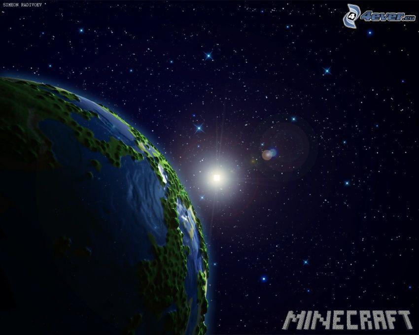 Minecraft, vesmír, hviezdy