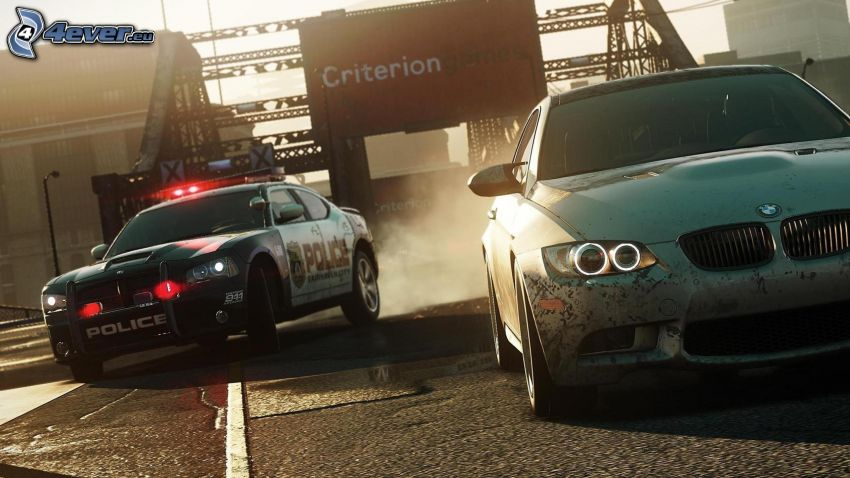 Need For Speed - Most Wanted, BMW, policajné auto