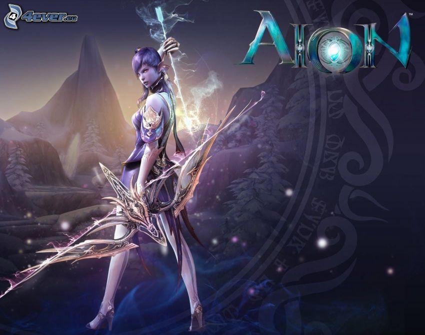 PC hra, fantasy žena