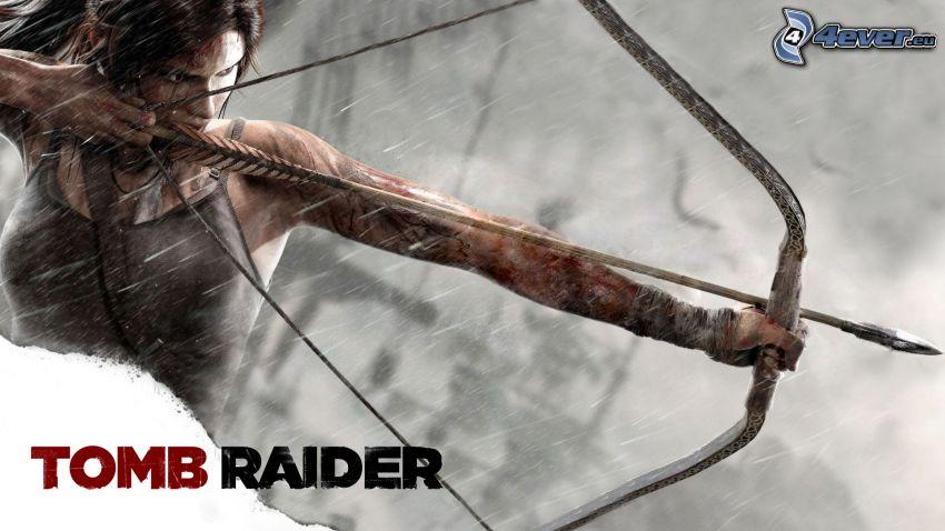 Tomb Raider, Lara Croft, lukostrelec