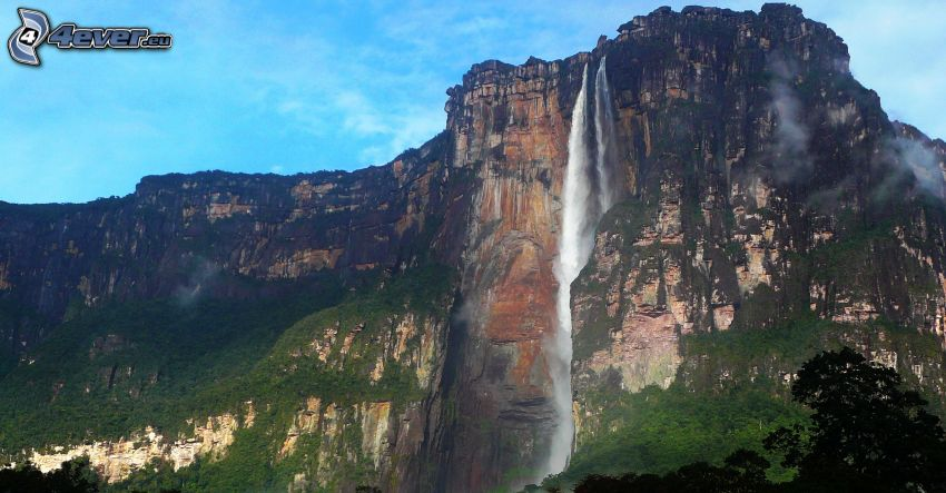 Angelov vodopád, útes, Venezuela