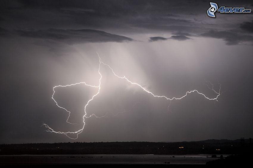 búrka, blesky