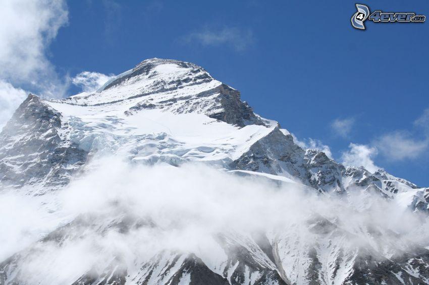 Cho Oyu, zasnežená hora