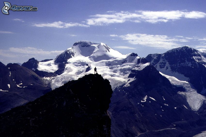 Mount Athabasca, skalnaté hory, zasnežené hory