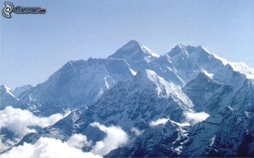 Mount Everest, zasnežené hory