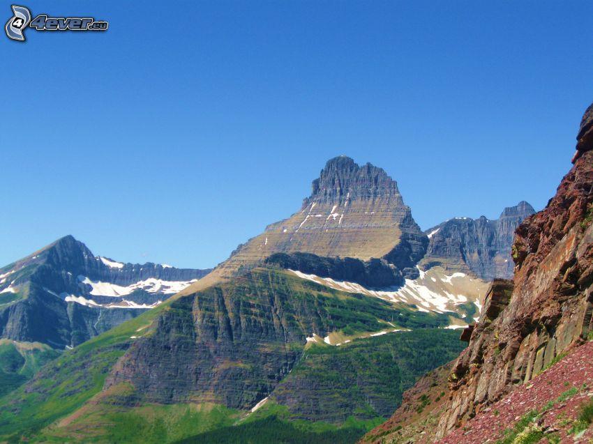 Mount Wilber, skalnaté hory