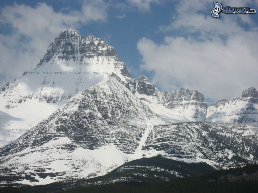 Mount Wilber, zasnežené hory