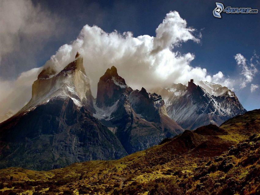 skalnaté hory, oblaky
