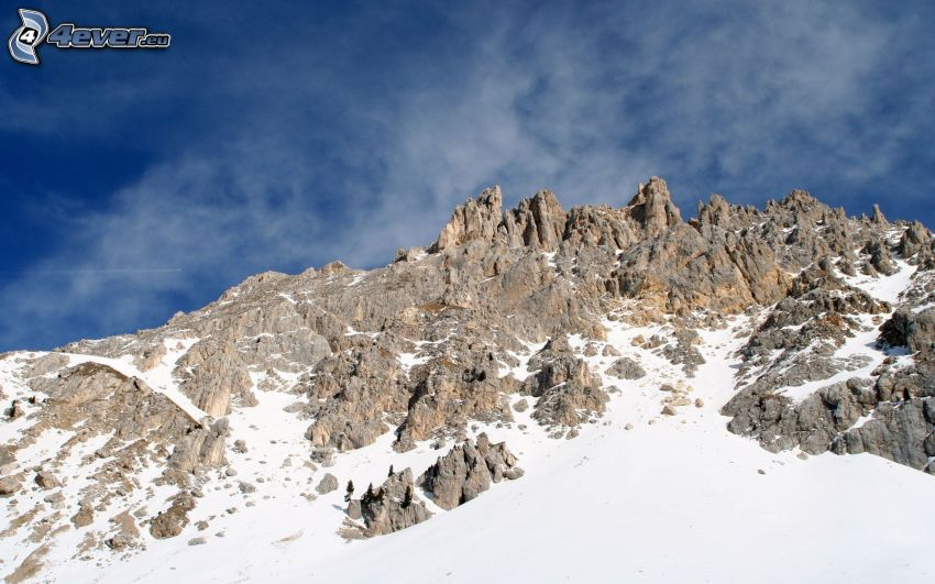 skalnaté hory, sneh