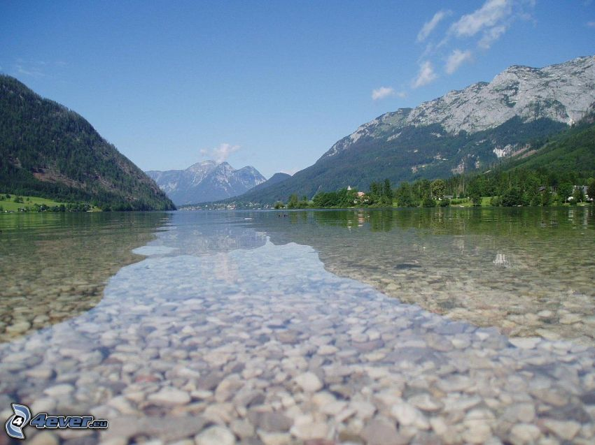 Totes Gebirge, jazero, skalnaté hory