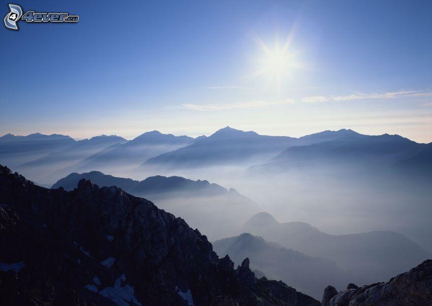 vysoké hory, slnko