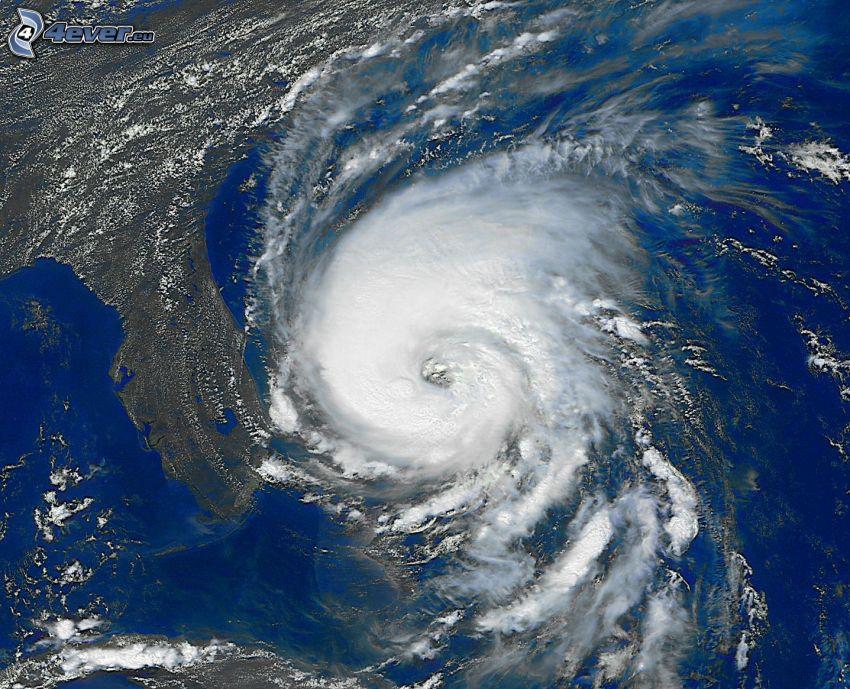 hurikán, Florida, satelitný záber