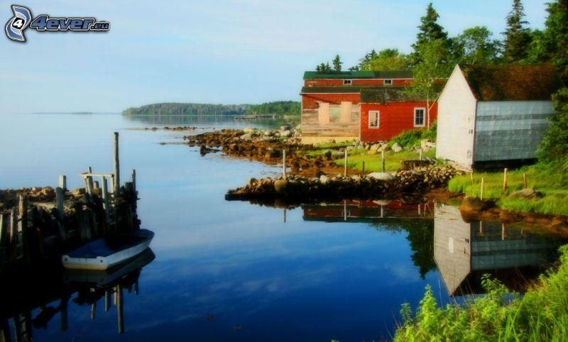 jazero, domčeky