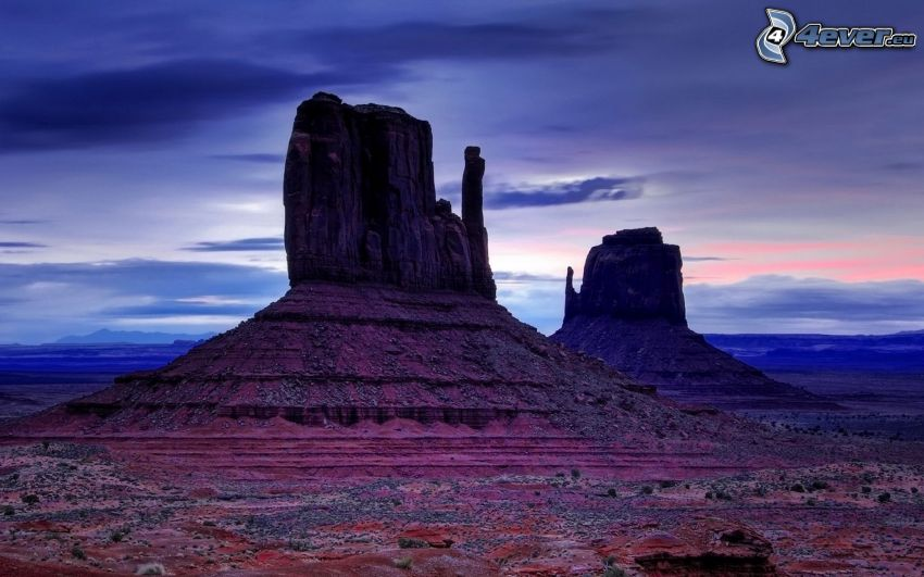 Monument Valley, USA, večer