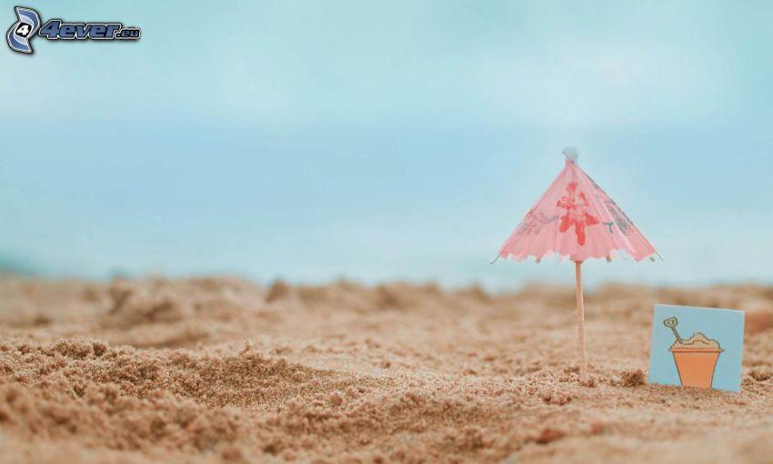 dáždnik, piesok