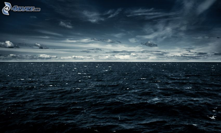 more, tmavá obloha