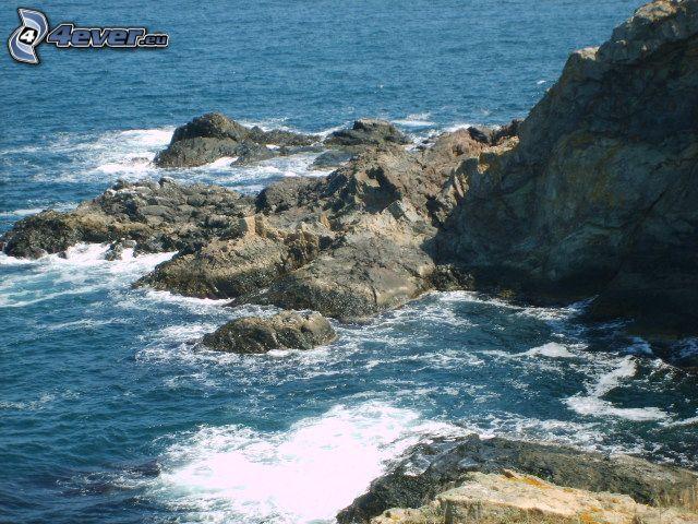 skalnaté pobrežie, Bulharsko, more