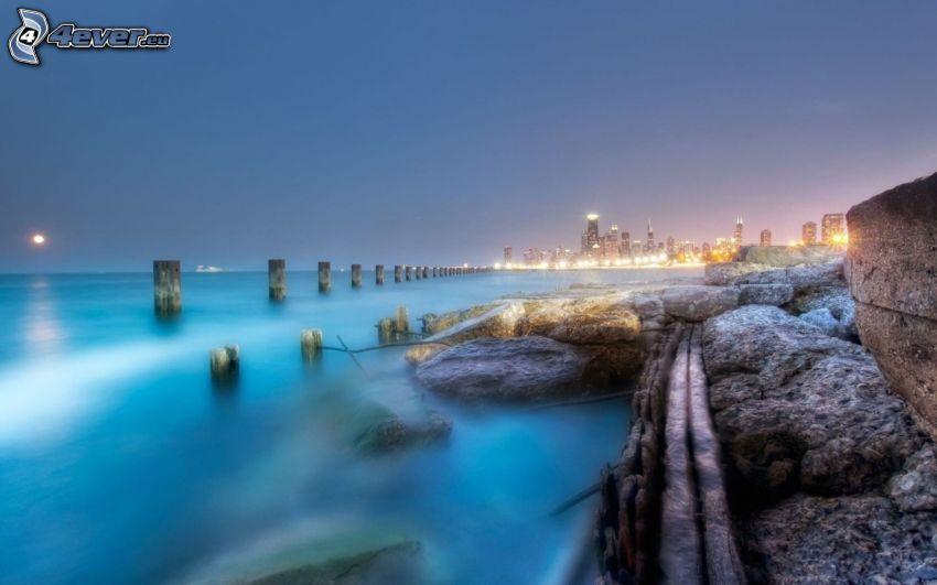 večerné more, HDR