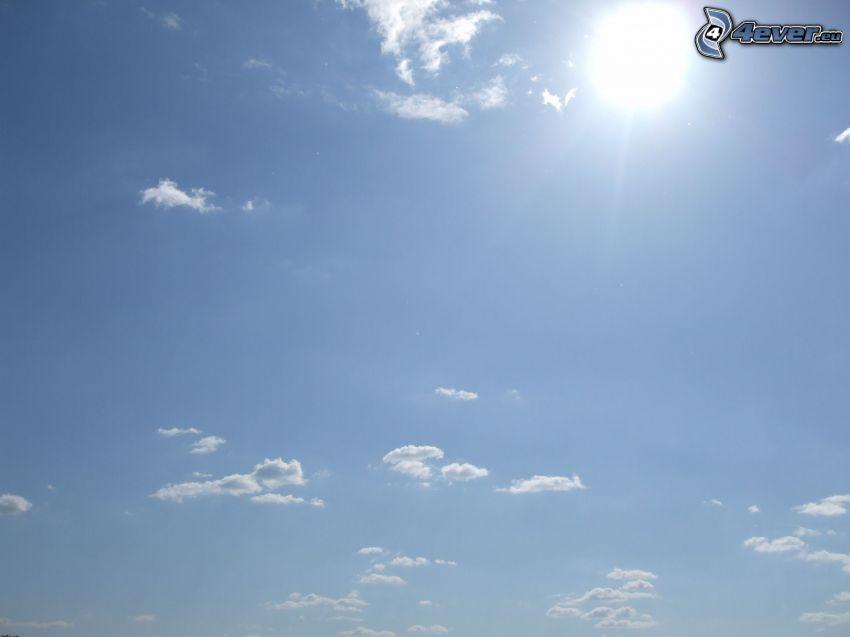 nebo, oblaky, slnko