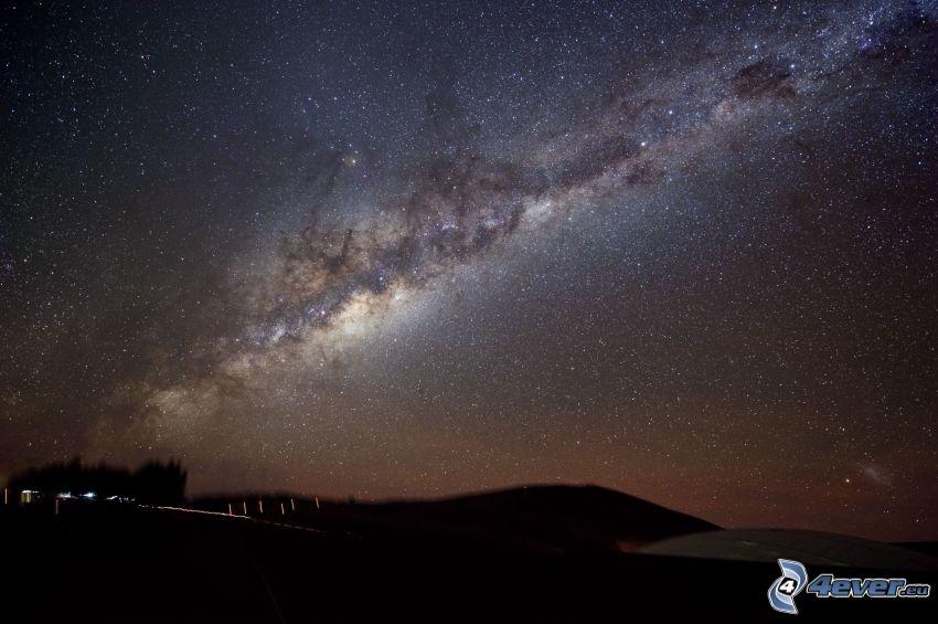 nočná obloha, horizont