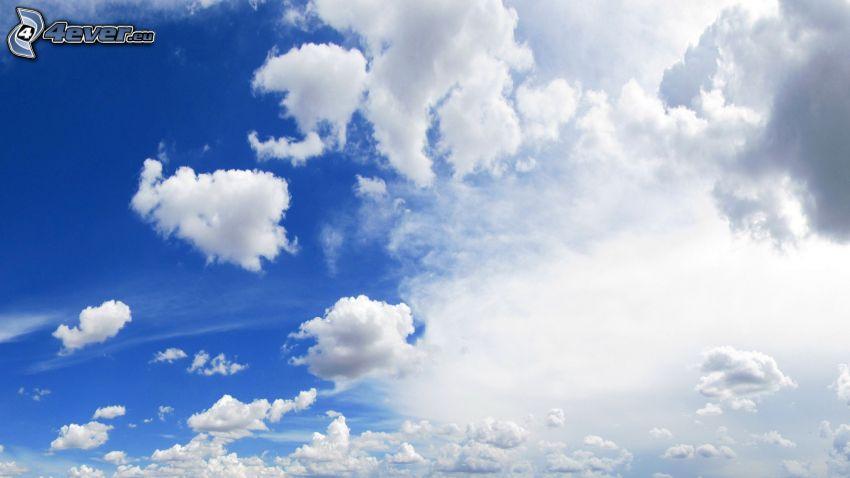 oblaky, modrá obloha