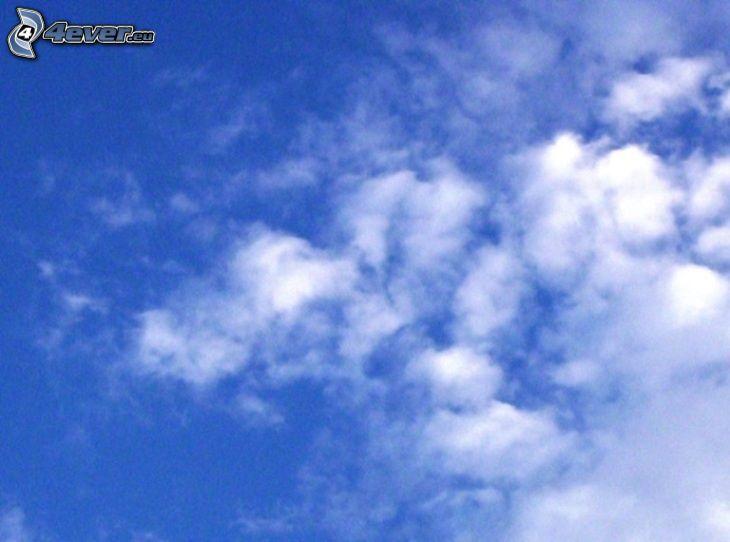 oblaky, nebo, obloha