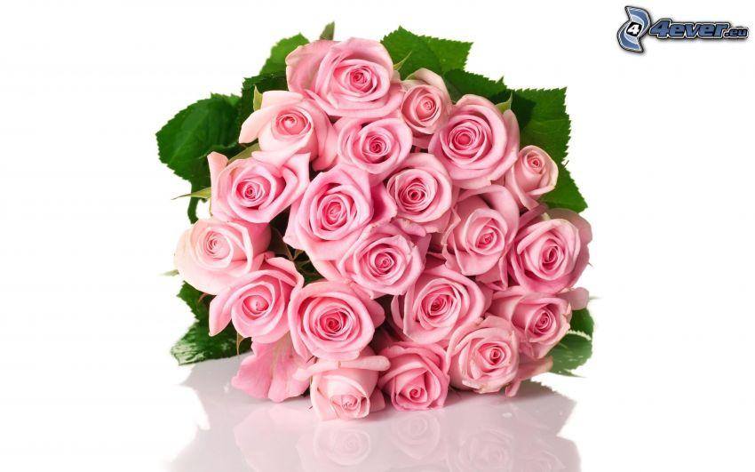 kytica ruží, ružové ruže