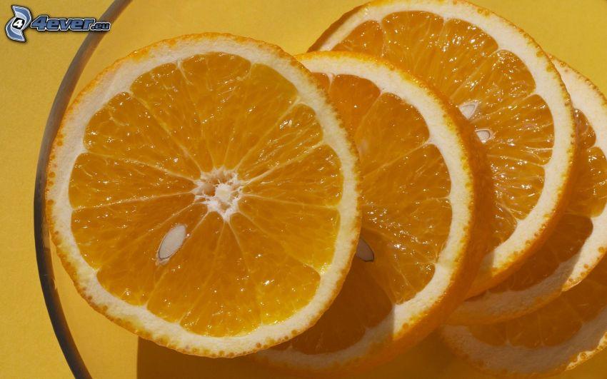 nakrájané pomaranče