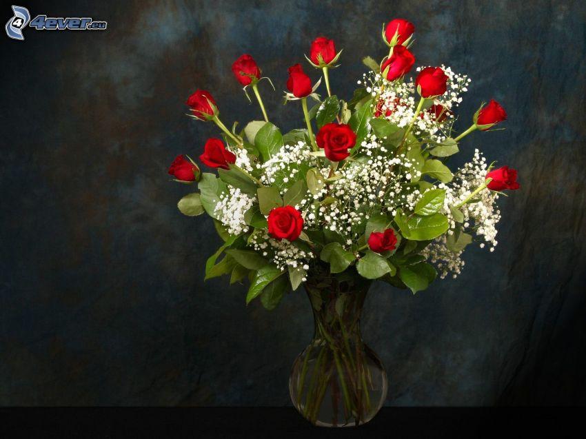 ruže, kytica ruží