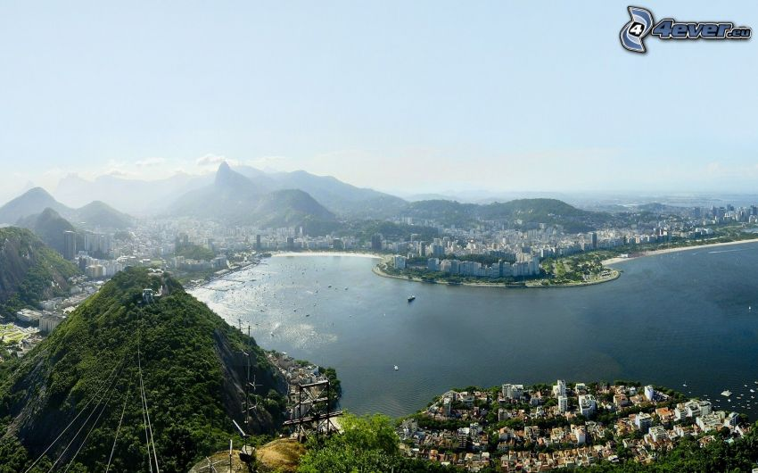 Rio De Janeiro, výhľad na mesto, záliv