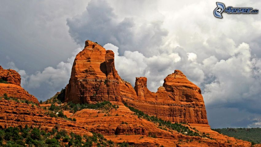 Sedona - Arizona, Monument Valley, oblaky