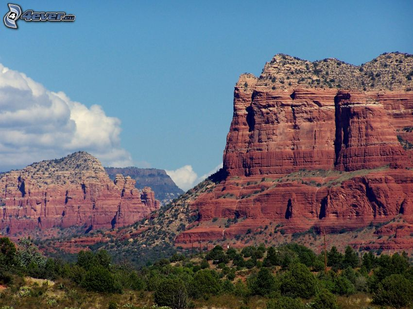 Sedona - Arizona, Monument Valley, skaly