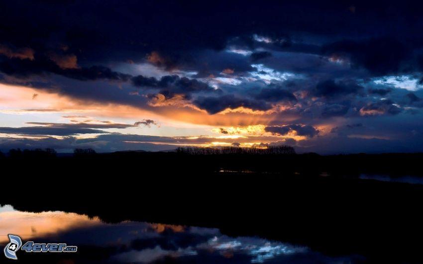 tmavá obloha, odraz