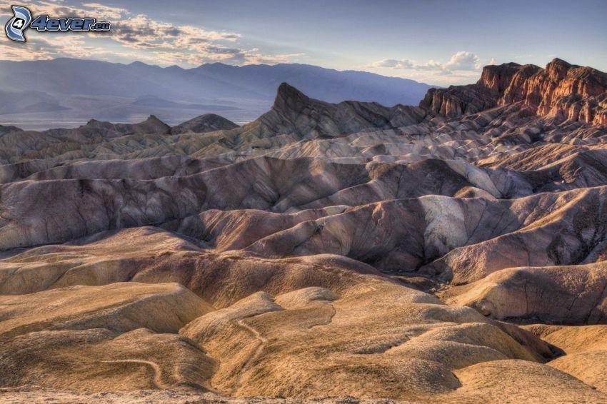 Údolie Smrti, pohorie