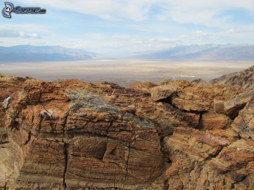 Údolie Smrti, skaly