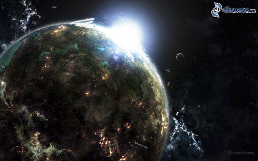 apokalyptický náraz, planéta