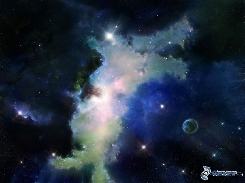hmlovina, planéty, hviezdy