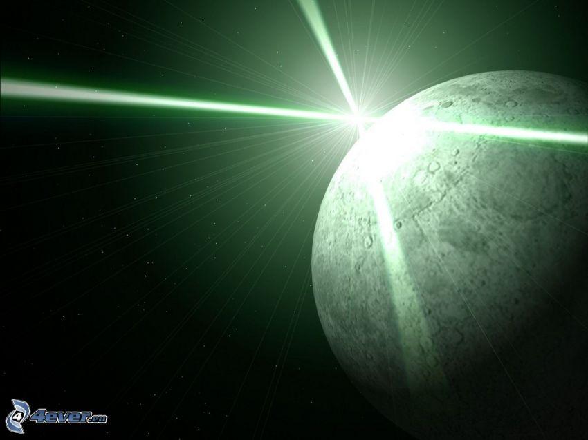 hviezda, lúče, planéta